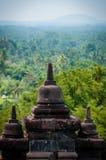 婆罗浮屠Stupa在日惹附近的 库存照片