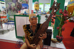 婆罗洲传统音乐 库存图片