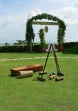 婆罗洲槌球设备使用 库存图片