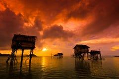 婆罗洲海岛maiga 图库摄影