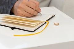 离婚信件 免版税库存照片