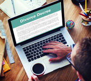 离婚协议旨令文件破坏概念 库存图片