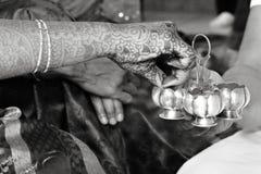 婚姻仪式的印地安人前 库存图片