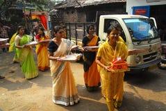 婚姻印度的仪式 免版税库存照片