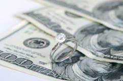 婚姻和货币 库存照片