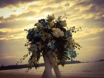婚姻在沙滩 图库摄影