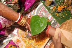 婚姻孟加拉印度的仪式 免版税库存图片