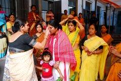 婚姻孟加拉日的仪式 库存照片
