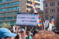 婚姻平等2017年 免版税图库摄影