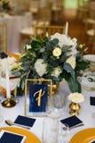 婚姻或另一顿承办宴席的事件晚餐的表集合 图库摄影