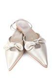 婚姻查出的鞋子 库存图片