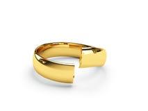 婚姻残破的金戒指 免版税图库摄影
