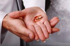 婚姻现有量的环形 库存照片