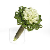 婚姻白色的花束玫瑰 库存图片