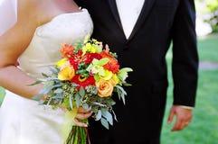 婚姻的新婚佳偶 库存图片
