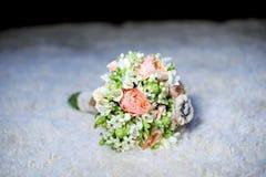 婚姻的时髦的花束 库存图片