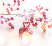 婚姻的浪漫曲奇饼,心脏背景 免版税图库摄影