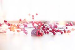 婚姻的浪漫曲奇饼,心脏背景 库存图片