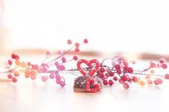 婚姻的浪漫曲奇饼,心脏背景 库存照片
