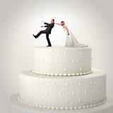 婚姻的滑稽的蛋糕 库存图片