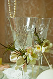 婚姻的玻璃 免版税库存照片