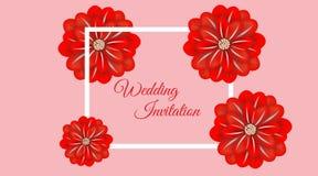 婚姻的花卉框架纸艺术 也corel凹道例证向量 皇族释放例证