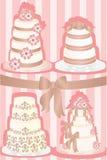 婚姻的蛋糕 库存例证