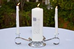 婚姻的蜡烛 库存照片