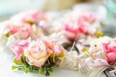 婚姻的装饰的罗斯花 免版税库存图片