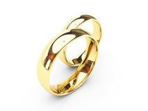 婚姻的金戒指 库存例证
