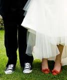 婚姻的鞋子 免版税图库摄影