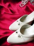 婚姻的鞋子 免版税库存图片