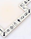 婚姻的Domino 免版税图库摄影