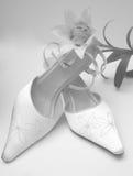 婚姻经典的鞋子 免版税库存照片