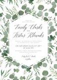 婚姻花卉邀请,邀请,保存日期卡片设计机智 库存例证