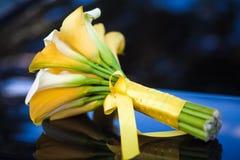婚姻花束的水芋百合 免版税图库摄影