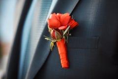 婚姻装饰的新郎 免版税图库摄影