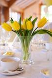 婚姻黄色的郁金香 免版税图库摄影