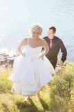 婚姻-新娘和新郎 免版税库存照片