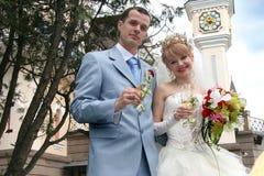 婚姻3张的照片 免版税库存照片