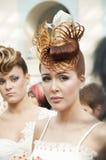 婚姻4竞争的hairdresses 库存照片