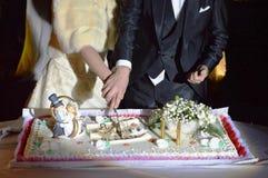 婚宴喜饼切口 库存照片