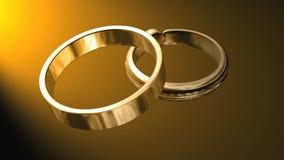 婚戒金黄首饰的金子 皇族释放例证
