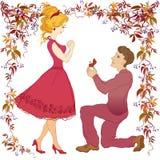 结婚提议例证 库存例证