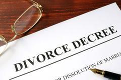离婚旨令形式 库存照片