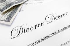 离婚旨令 免版税库存图片