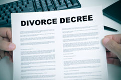 离婚旨令 库存照片