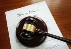 离婚旨令 免版税库存照片