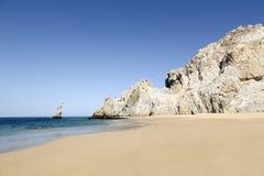 离婚海滩在Los Cabos,墨西哥 库存图片