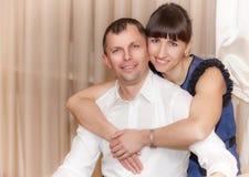 结婚的夫妇愉快 库存图片